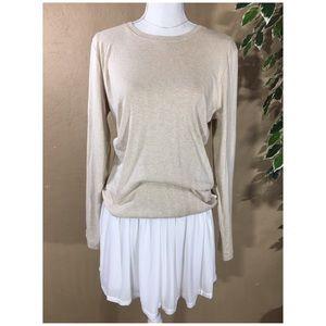 Liz Claiborne Supima Cotton Long sleeve top Large